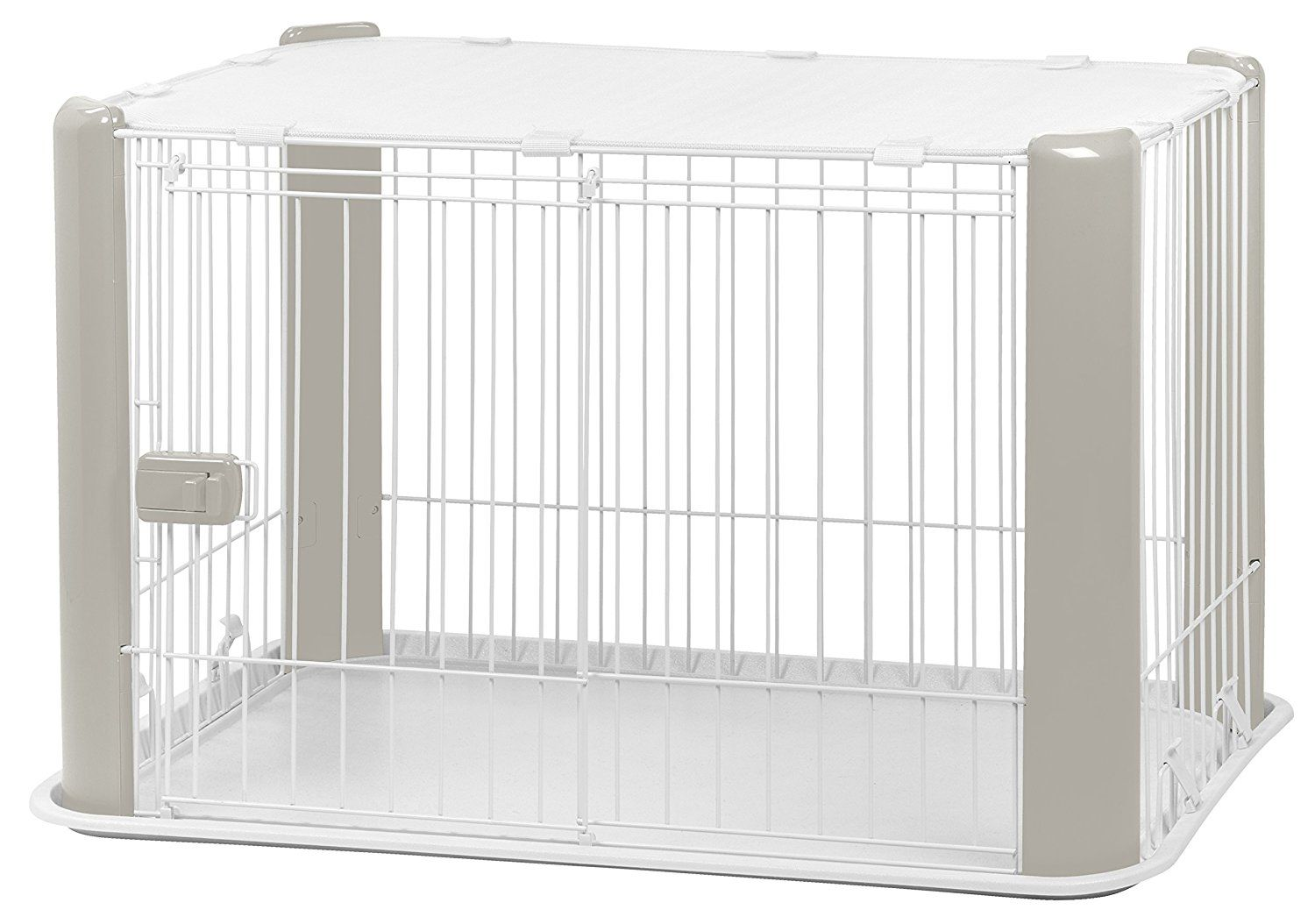 IRIS Wire Dog Crate with Mesh Roof * Click image to review more ...