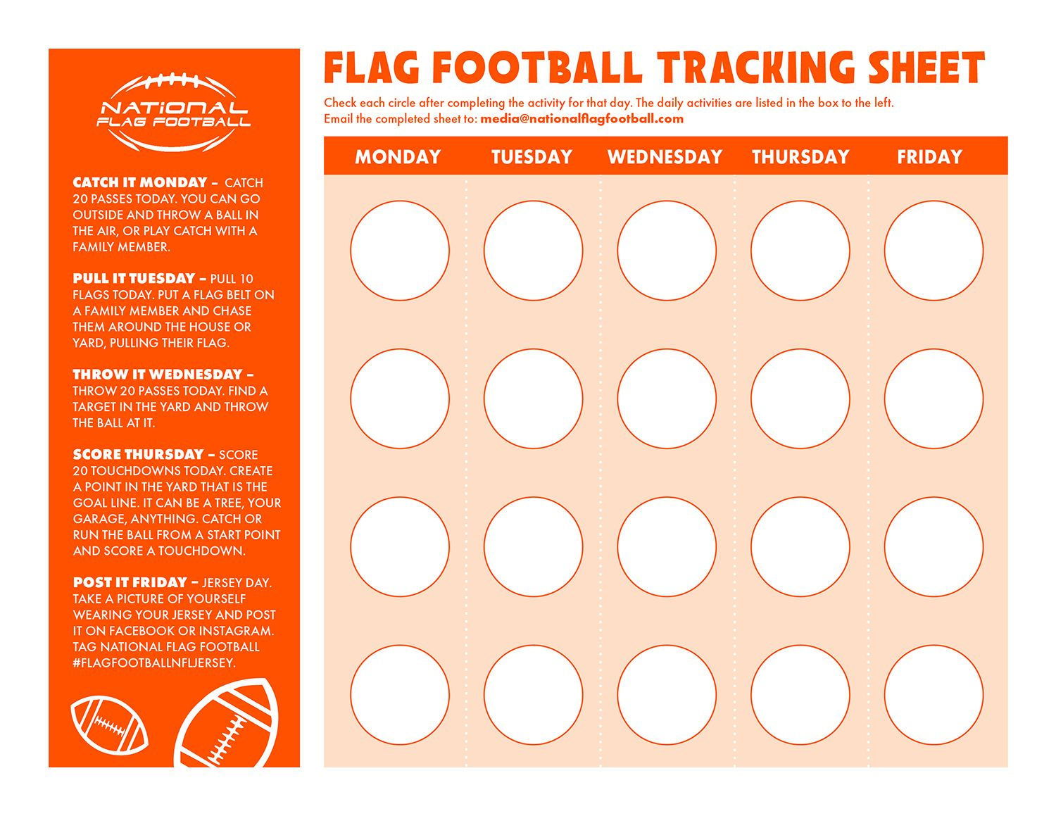 Flag Football Month Of Moving In 2020