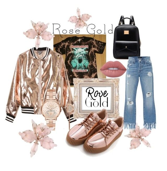 """""""Rose Gold Princess"""" by dopelux on Polyvore featuring Sans Souci, Michael Kors, Lime Crime and 3x1"""
