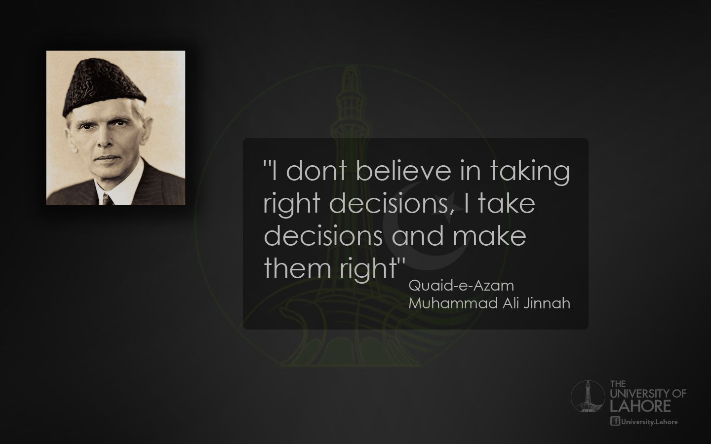 Quote Quaid E Azam Pakistan University Of Lahore A Quotes