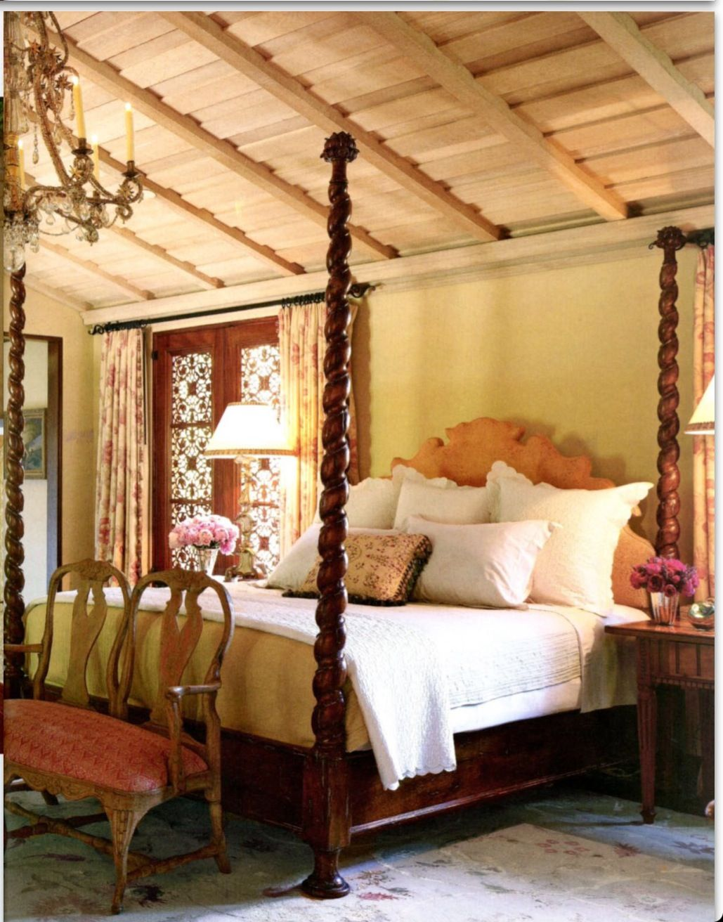 Inviting Tuscan bedroom