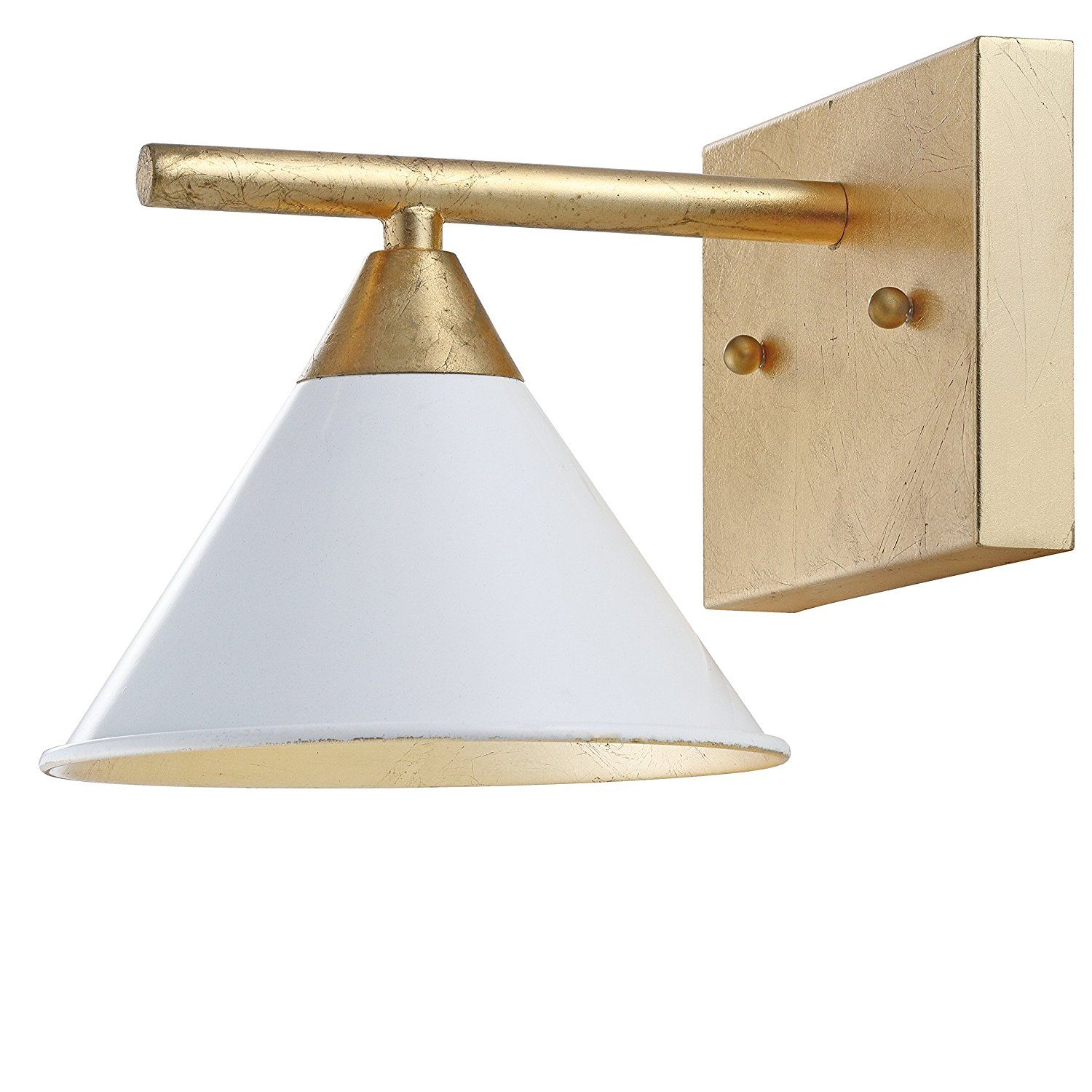 Jonathan Y Jyl9012a Yvette 9 2 1 Light Metal Sconce White Gold