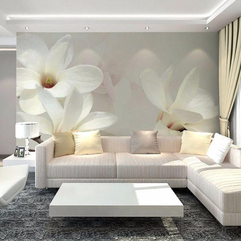 De 3d Foto Papel Paisaje Para Paredes 3d Magnolia Pintura Mural Dormitorio Casa De Fondo De Decoracion De Pared Decoracion De Salas Modernas Decoracion De Unas