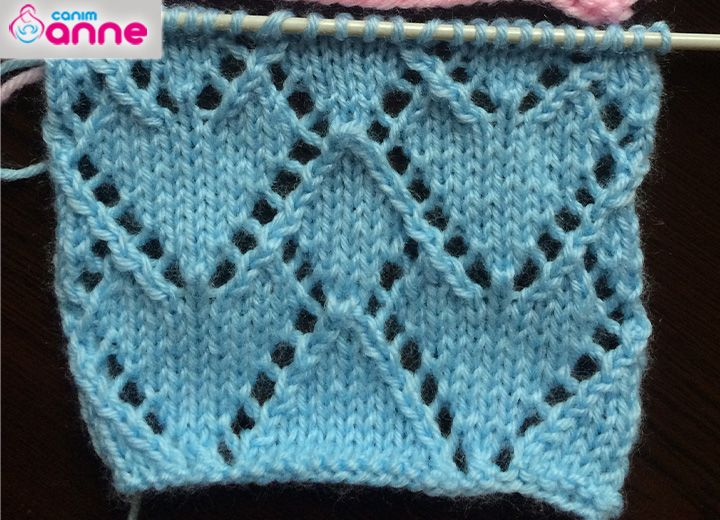 Lace Hearts Knit Stitch Pattern Lace Hearts Knit Stitch Pattern