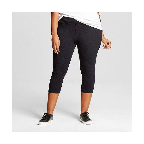 6d2d9635354 Women s Plus Size Capri Legging Black - Ava  amp  Viv