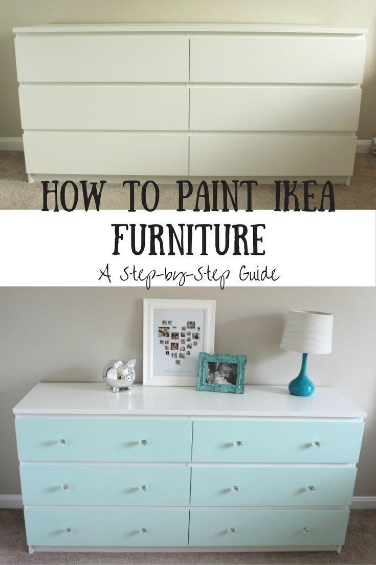 How to Paint IKEA Laminate Furniture   Paint ikea furniture, Ikea ...
