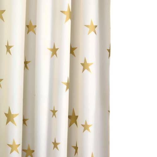 Croydex AF285603YW Patterned Textile Shimmer Gold Stars Shower ...