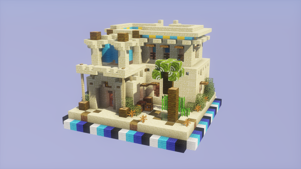 One Chunk Desert House | Things to make | Pinterest | Minecraft ...