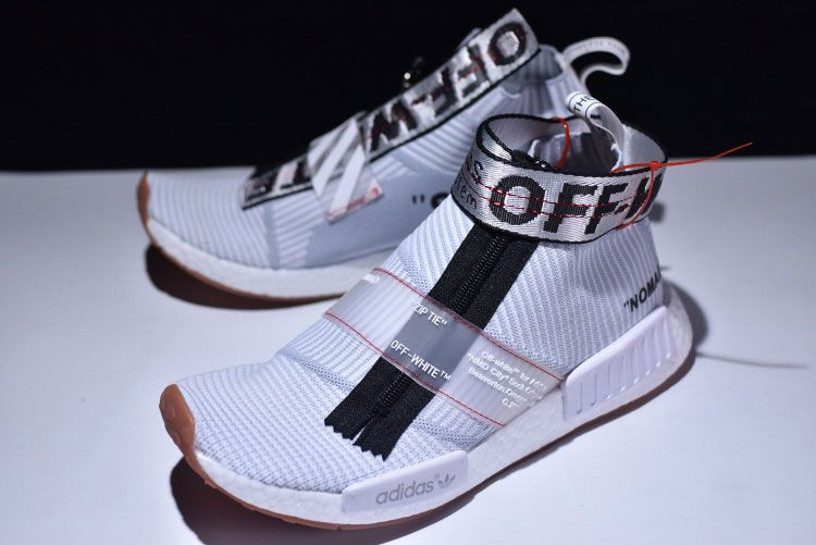 317fc92a6 OFF-WHITE x adidas NMD City Sock joint custom shoes. The white Primeknit  socks
