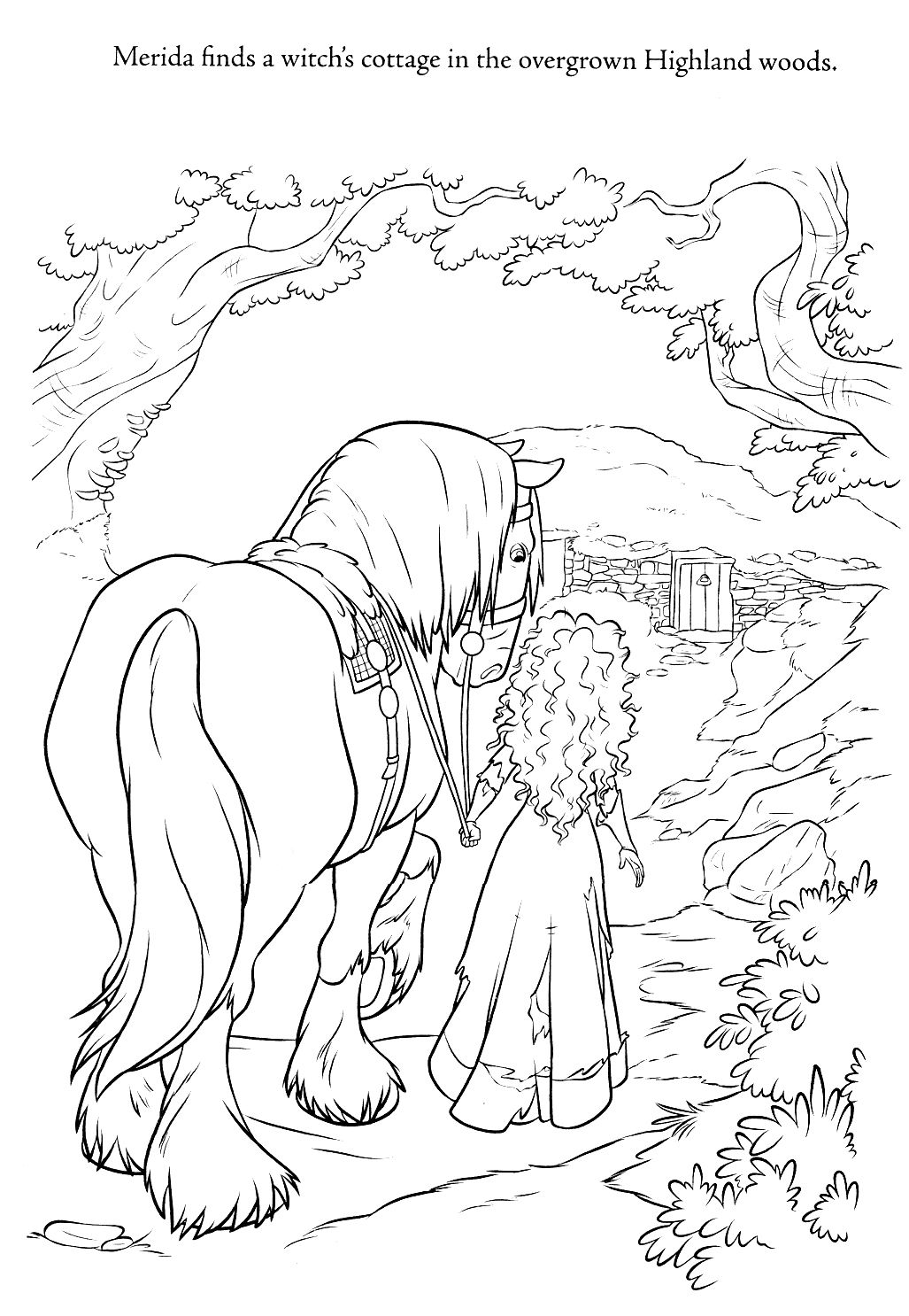 brave coloring page