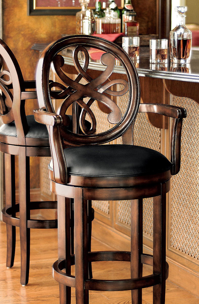 Kristina Swivel Bar Stool The ultimate bar stool needs A back rest