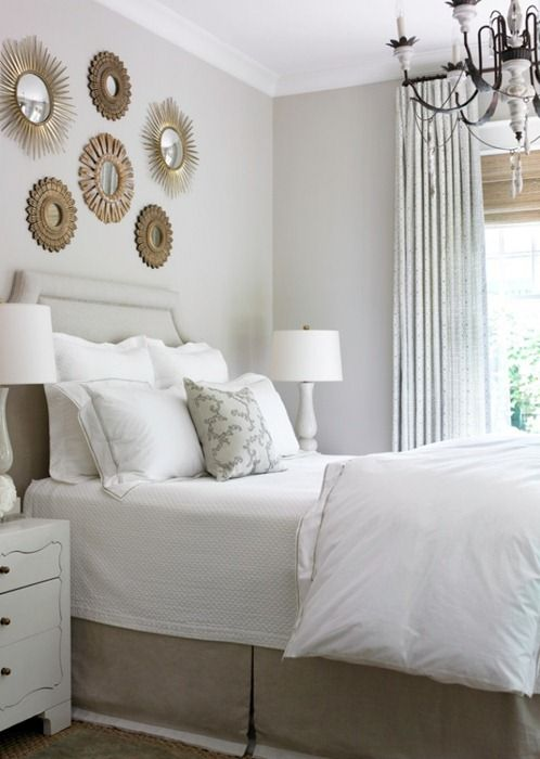 Crisp, white bedding