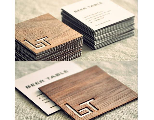 Creative wooden square business cards design for beer table high creative wooden square business cards design for beer table high end pub in brooklyn colourmoves