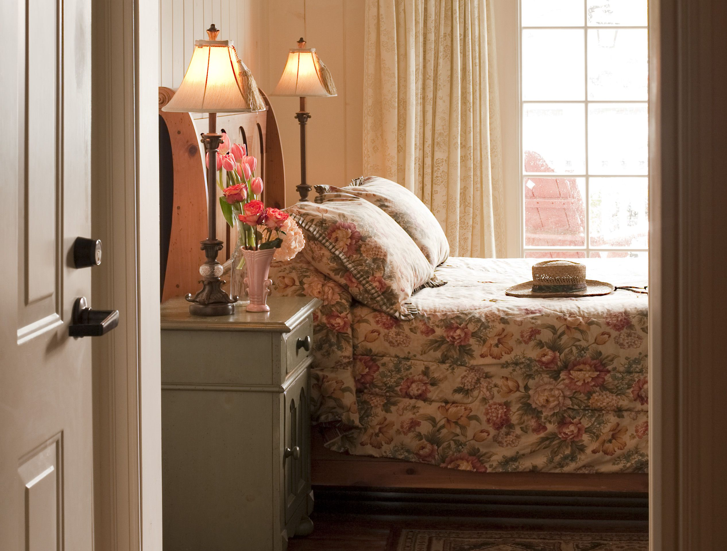 The Courtyard Room, with semi private deck and it's quaint style make this a lovely room.