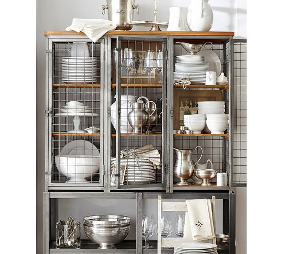 Gridley Caged Storage Cabinet   Pottery Barn   Pottery Barn   Pinterest