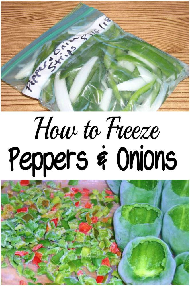 how to freeze green peppers and onions