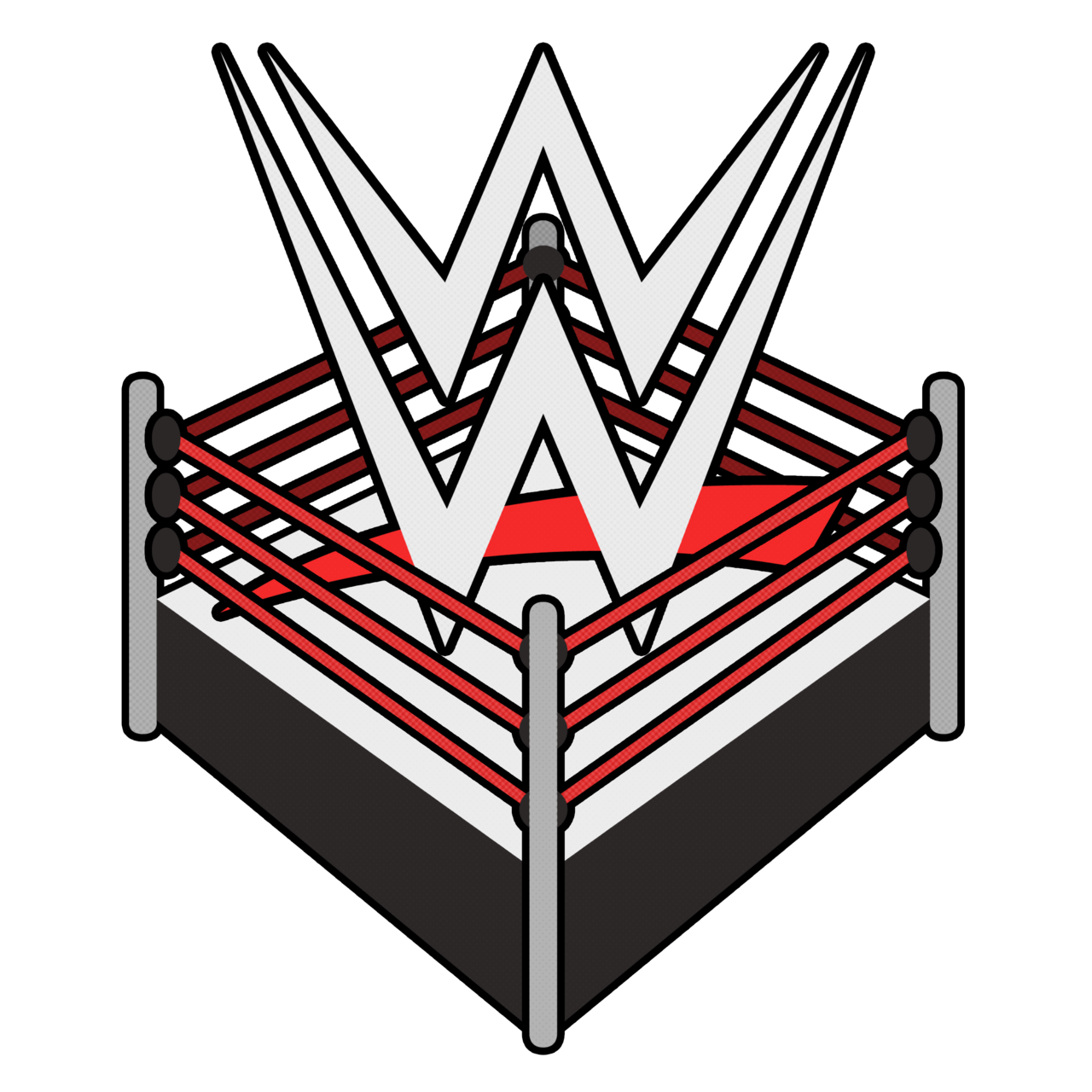 Wwe Wrestling Logo Ring Png Wrestling Birthday Wwe Logo Wwe