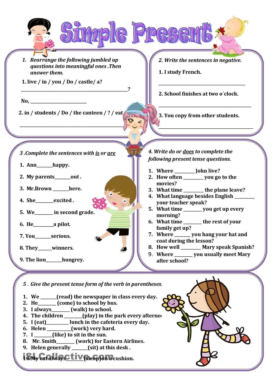 Present Simple Simple Present Tense Simple Present Tense Worksheets Teaching English Grammar