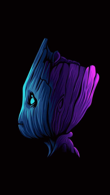 Baby Groot Minimal 4K Ultra HD Mobile Wallpaper