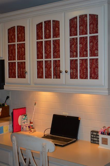 How To Cover Glass Cabinet Doors With Fabric In 2019 Make Over