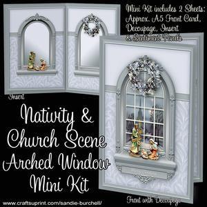Nativity & Church Scene Arched Window Mini Kit
