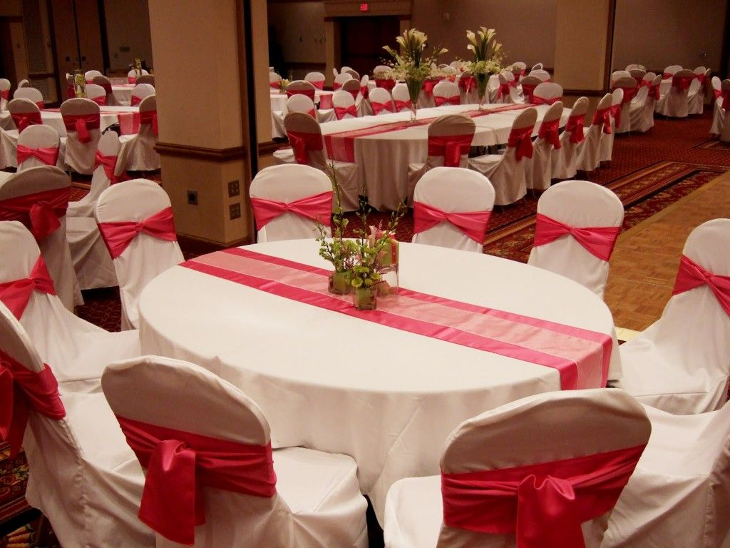 Red and white wedding decorations decoration