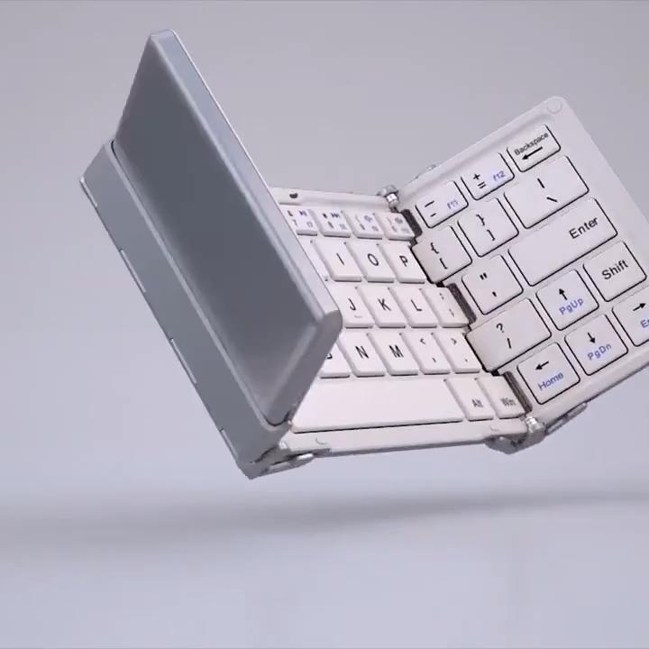 Tri-fold Portable Bluetooth Keyboard