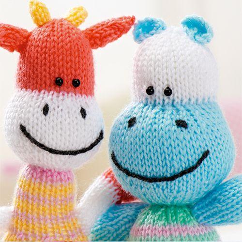 Knitting Toys Magazine : Knitted hippo pattern free craft project stitching