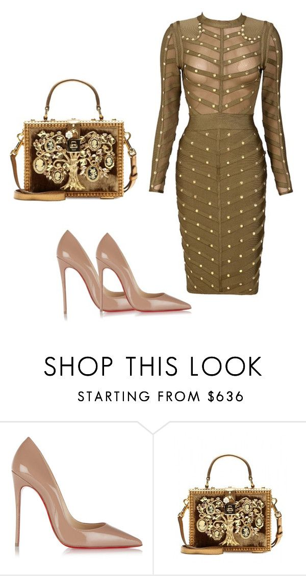 """Dress from LaSophiestique.com"" by lasophiestique ❤ liked on Polyvore featuring Christian Louboutin and Dolce&Gabbana"