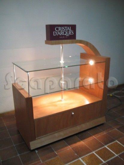 Exhibidor de cristaleria exhibidores de ropa pinterest for Muebles para cristaleria