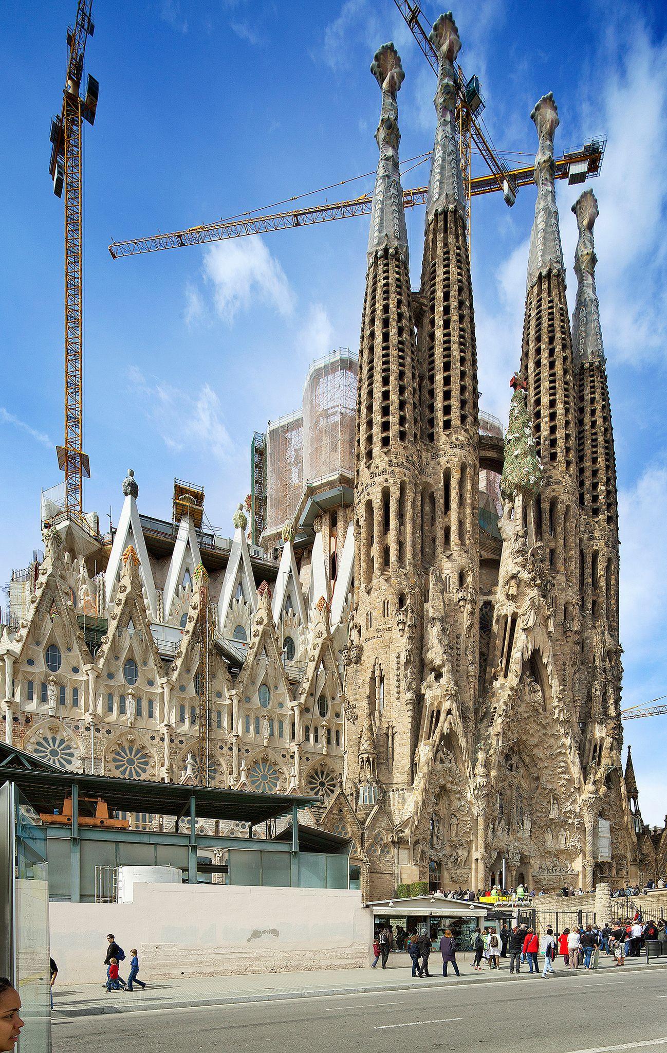 La Sagrada Familia Barcelona Spain Antoni Gaudi Antoni Gaudi Gaudi Gaudi Barcelona