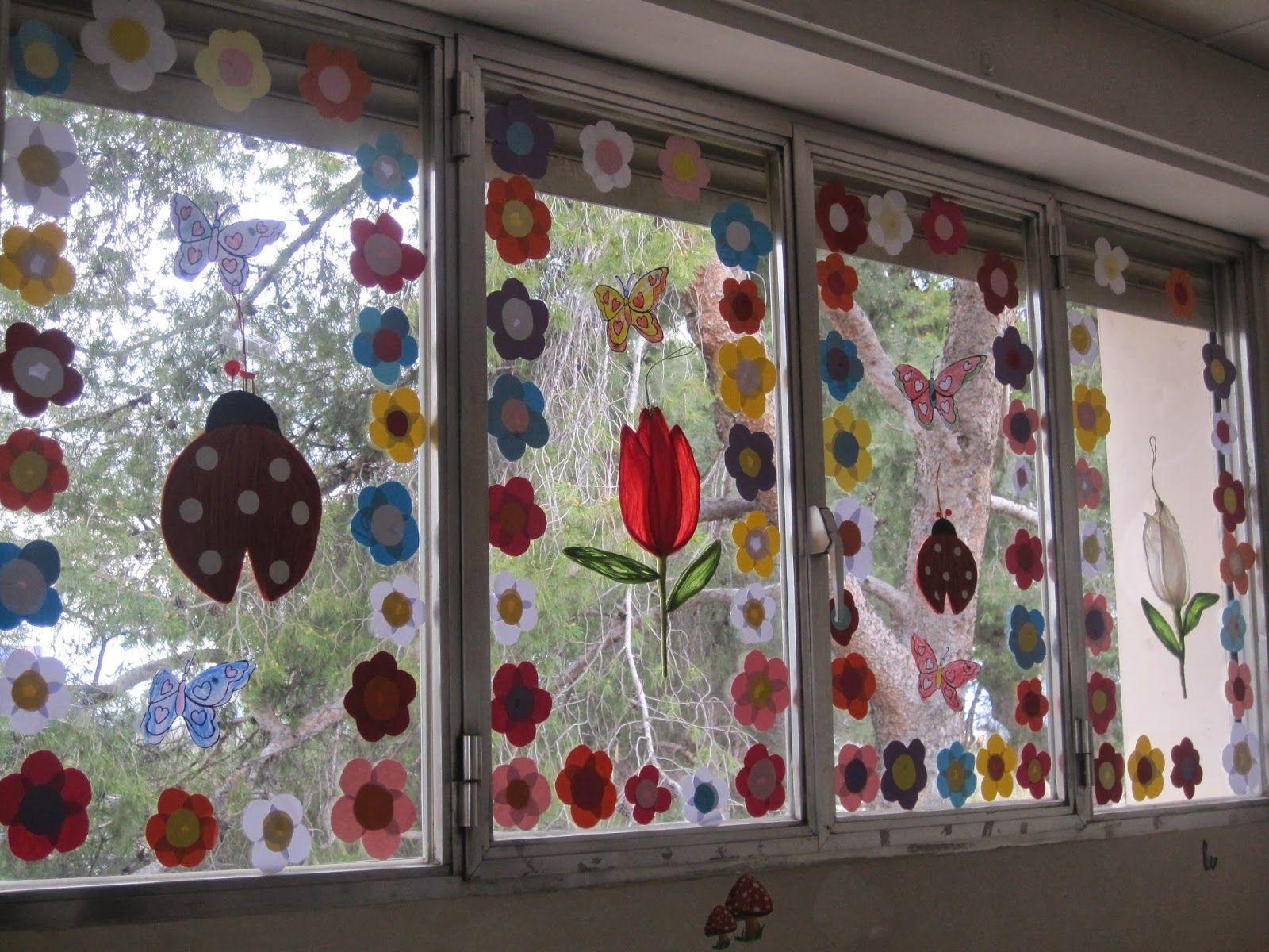 Resultado de imagen para decoracion ventanas aula infantil for Decoracion aula infantil