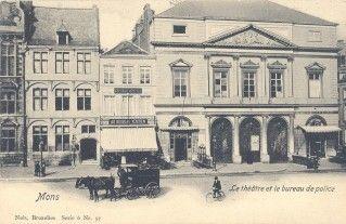 Ville de mons th atre et bureau de poste je vis ici - Bureau de poste belgique ...