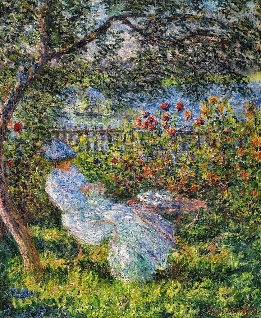 Alice Hoschede Au Jardin C Monet W 680 Monet Peinture De