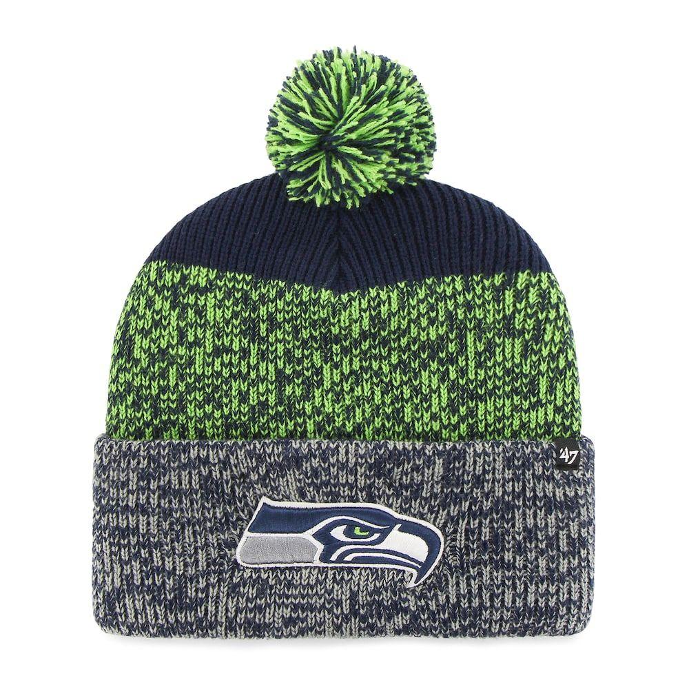 Adult  47 Brand Seattle Seahawks Static Cuff Knit Hat 79539e87e