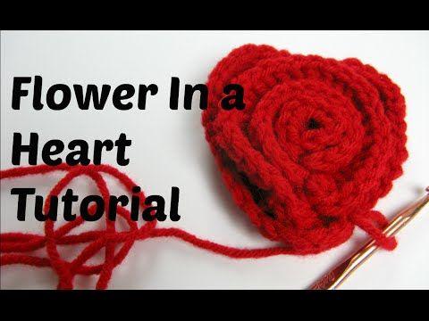 Crochet Pattern Spiral Rose Heart Youtube Lavorazione Punti