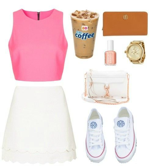 scallop skirts. monogrammed converse. #kmkstyling