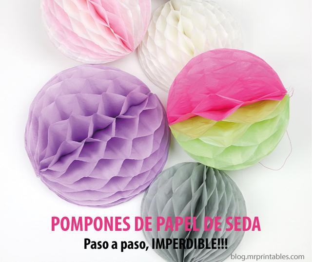 Decorar con pompones de papel de seda buscar con google - Manualidades con pompones ...
