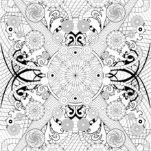 Rosette Intricate Patterns coloring page. Many more to choose from and you can color them online or print them out.