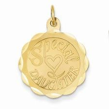 14k Gold Daughter Charm