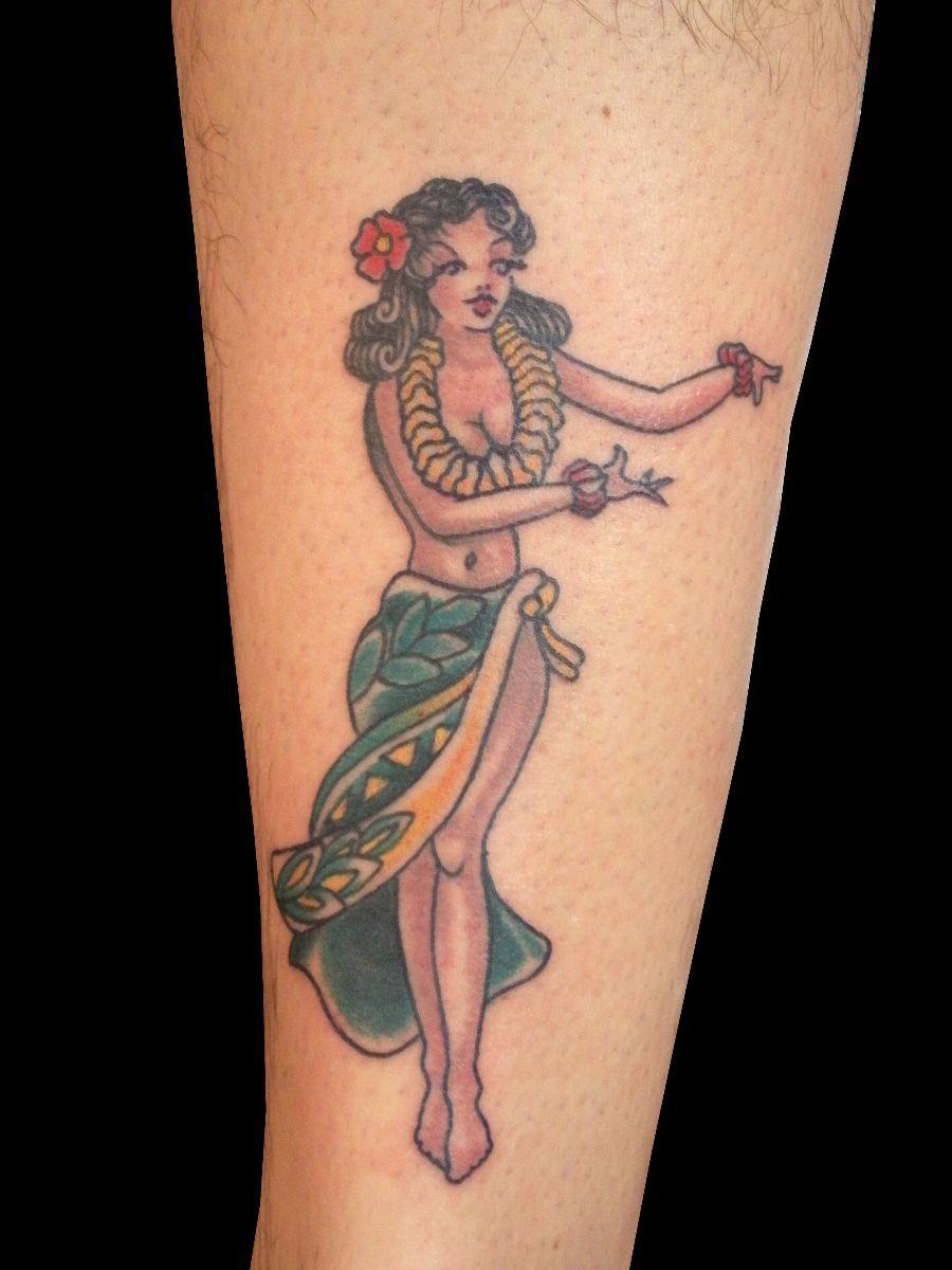 58642810f hula girl Hawaiian Dancers, Hawaiian Girls, Pin Up Tattoos, Hula Girl  Tattoos,