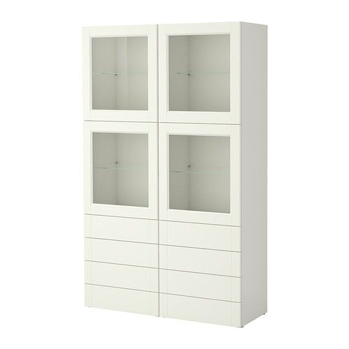 BESTÅ Comb almacenaje&puertas/cajones - Vassbo blanco - IKEA | Ideas ...