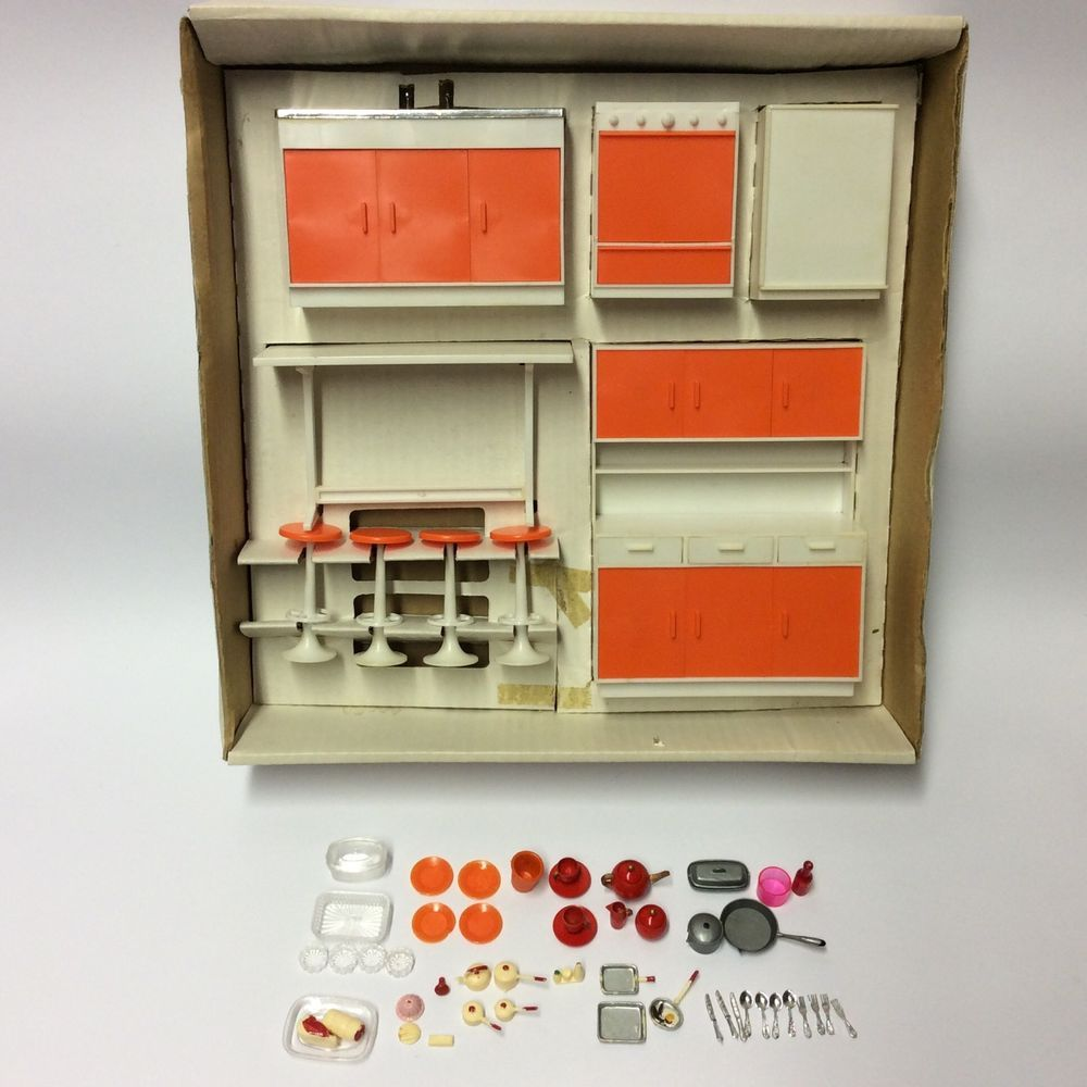 vintage 1970's palitoy pippa doll furniture set - kitchen fitting