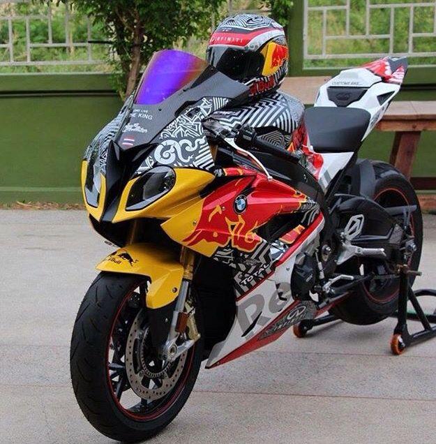 BMW SRR Red Bull By Hug Sticker Race Motorcycle Pinterest - Red bull motorcycle custom stickers