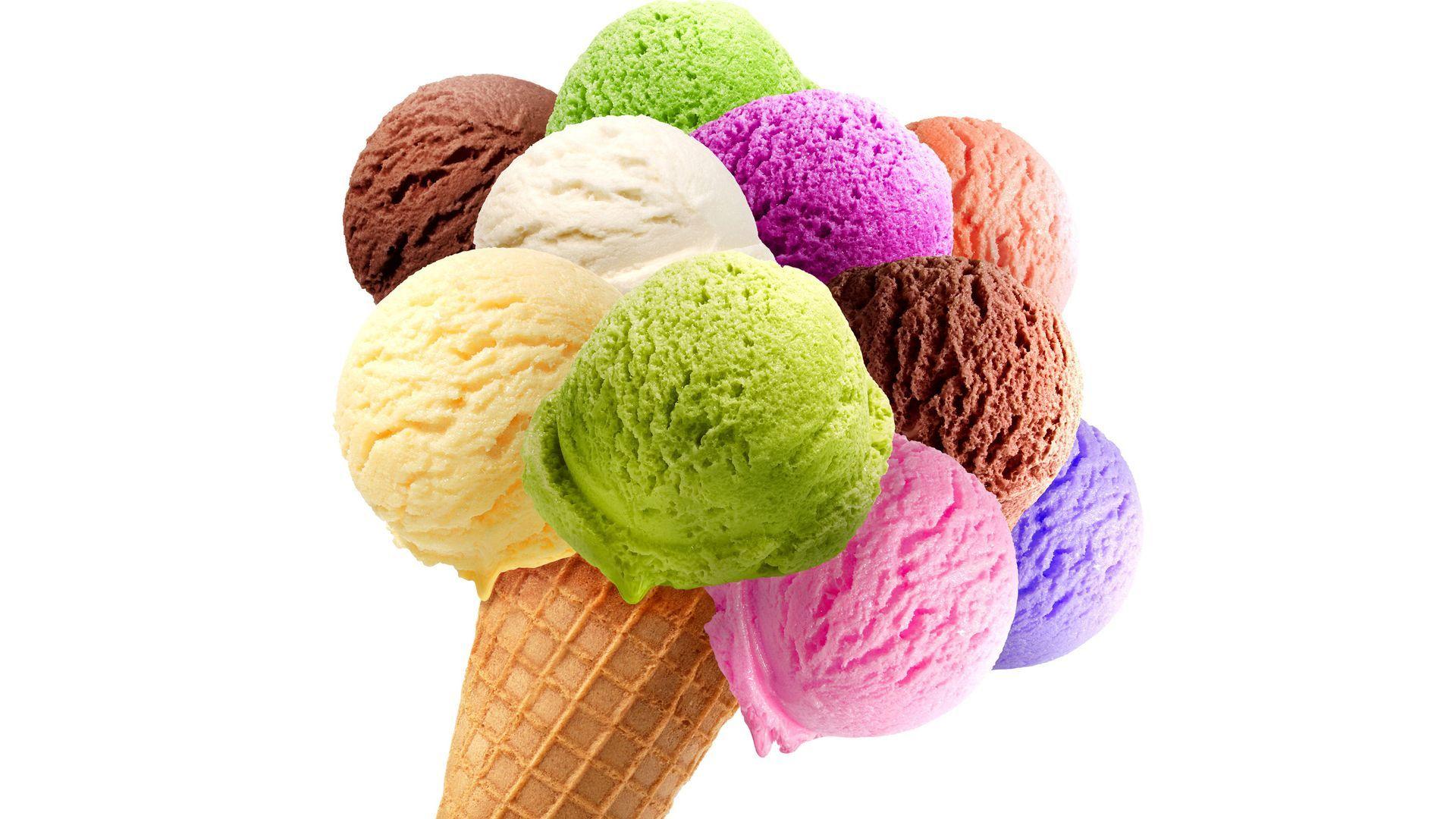 cone colorful ice cream