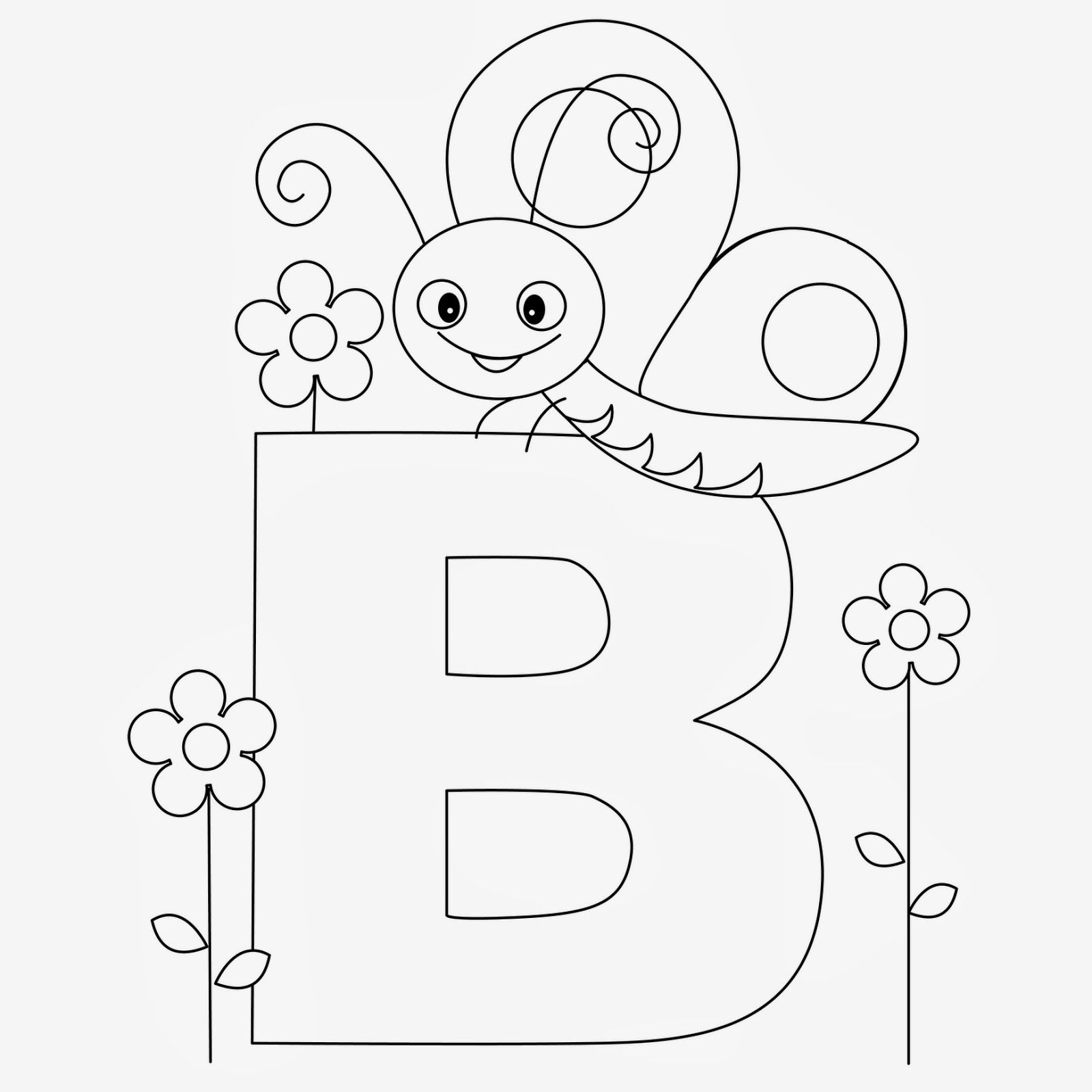 Printable Alphabet Coloring Pages Butterfly