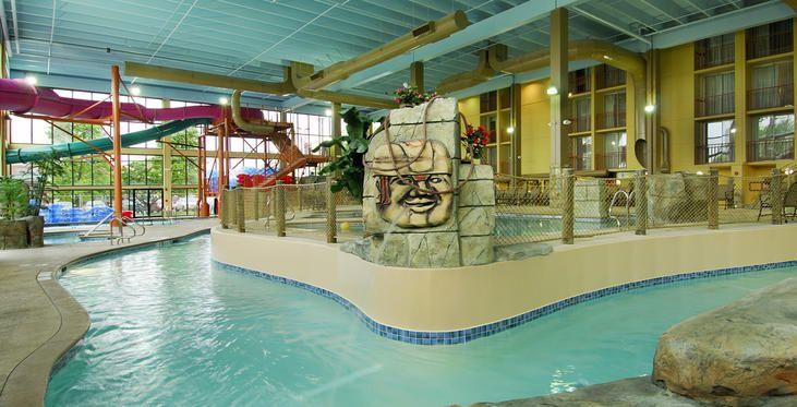 The Waverton Hotel Mayan Adventure Waterpark Themed Pool Area Elmhurst Illinois