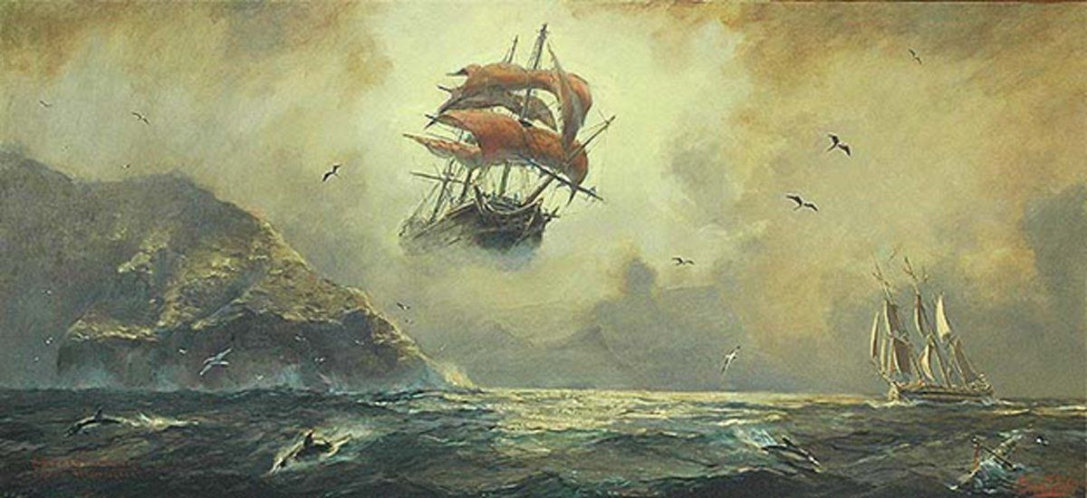 Legend of The Flying Dutchman, Ghostly Apparition of The Ship of Captain Hendrick