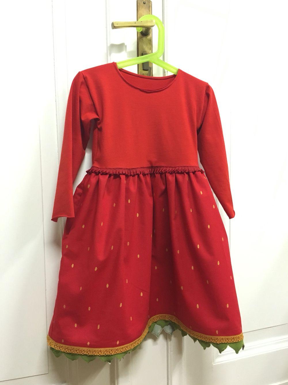 Kids strawberry fary costume