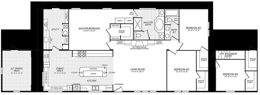 Alexander 32 X 60 1800 Sqft Mobile Home Floor Plans